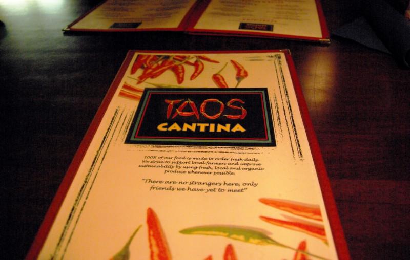 旅の空の下から -セドナ編⑬- メキシコ料理 TAOS CANTINA でタコス!