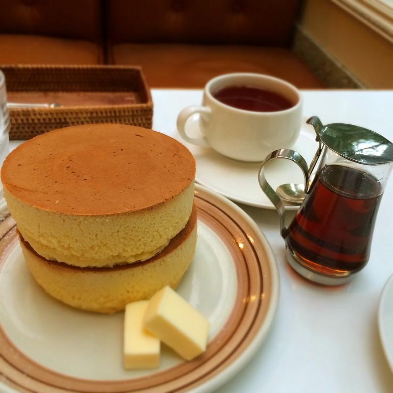 鎌倉の老舗喫茶店 イワタコーヒー店のパンケーキ