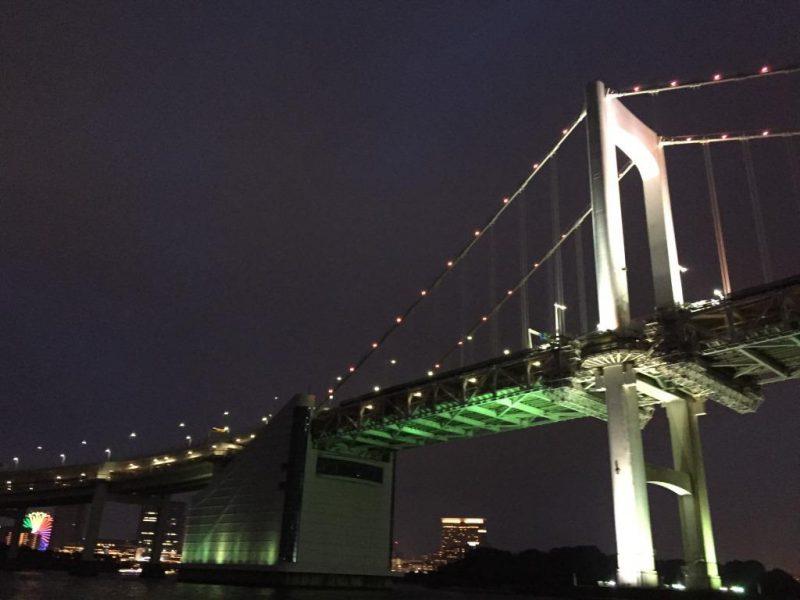 東京 両国 水上バスのナイトクルーズは暑い夏の夜にひと時の涼を感じられる