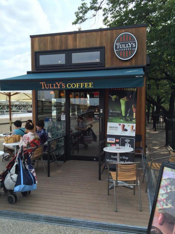 浅草観光の穴場:TULLY'S COFFEE 隅田公園店 公園内のタリーズは川風に吹かれて気持ちいいカフェ(ミニリュウも出ます)