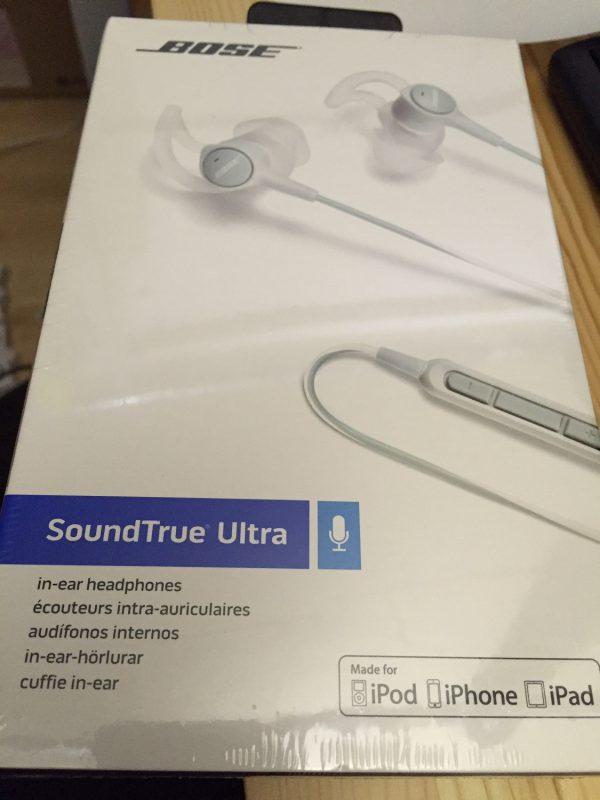 BOSE SoundTrue Ultra 耳にフィットするイヤホンがオーディオブックを聞きながらの通勤に非常に良かった